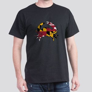 Maryland State Flag Crab Dark T-Shirt