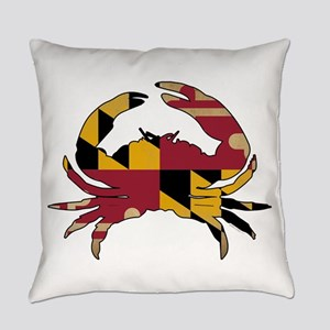 Maryland State Flag Crab Everyday Pillow