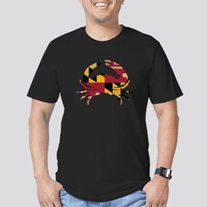 Maryland State Flag Cr Men's Fitted T-Shirt (dark)