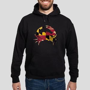 Maryland State Flag Crab Hoodie (dark)