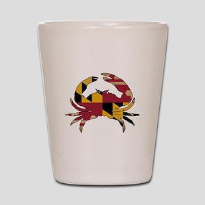 Maryland State Flag Crab Shot Glass