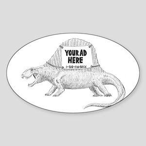 Dimetrodon Oval Sticker
