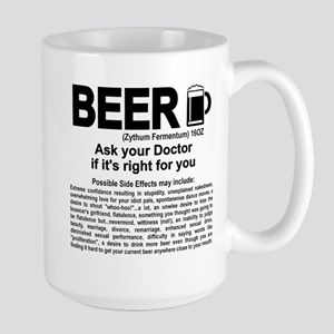 Beer, ask your doctor if it's right for Large Mug