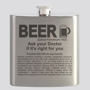 Beer, ask your doctor if it's right for you Flask