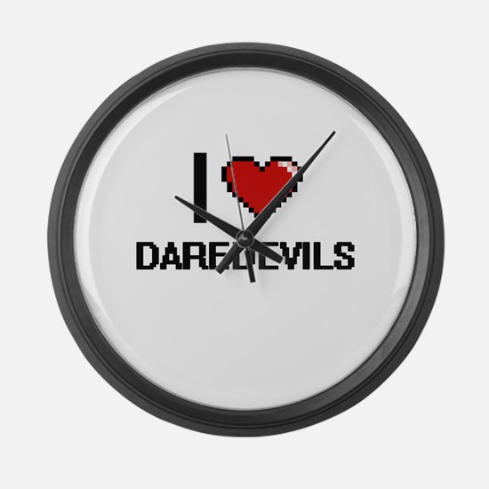 I love Daredevils Large Wall Clock