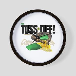 Toss Off! Wall Clock
