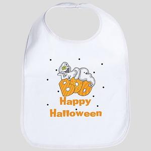 Happy Halloween Ghost Baby Bib