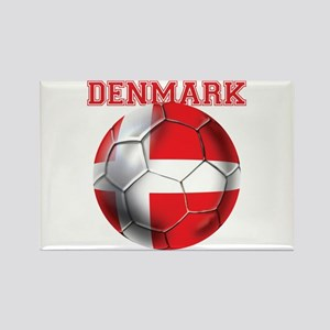 Denmark Soccer Rectangle Magnet (10 pack)