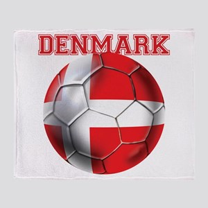 Denmark Soccer Throw Blanket