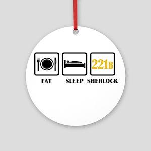 Eat Sleep Sherlock Ornament (Round)