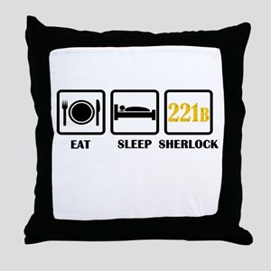 Eat Sleep Sherlock Throw Pillow
