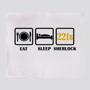 Eat Sleep Sherlock Throw Blanket
