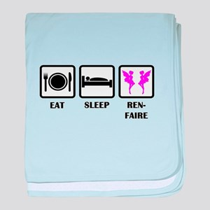 Eat Sleep Ren-Faire baby blanket