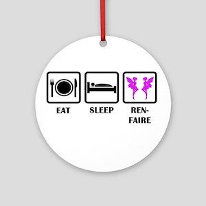 Eat Sleep Ren-Faire Ornament (Round)