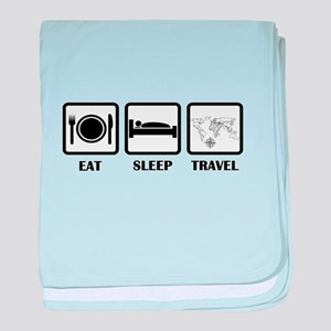 Eat Sleep Travel baby blanket