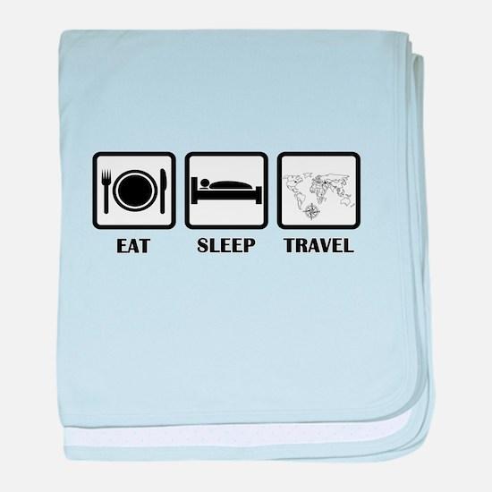 Eat Sleep Travel baby blanket