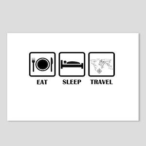 Eat Sleep Travel Postcards (Package of 8)