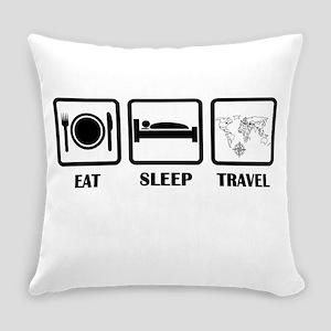 Eat Sleep Travel Everyday Pillow