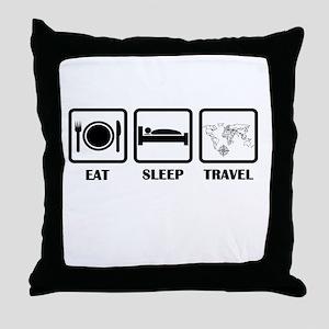 Eat Sleep Travel Throw Pillow