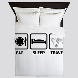 Eat Sleep Travel Queen Duvet