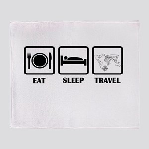 Eat Sleep Travel Throw Blanket