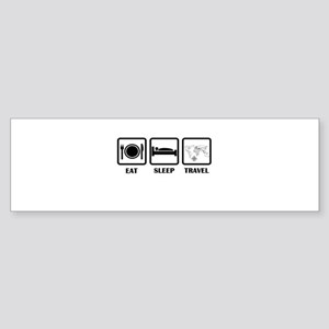 Eat Sleep Travel Bumper Sticker