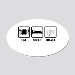 Eat Sleep Travel Wall Decal