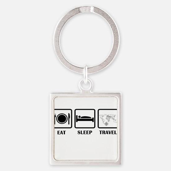 Eat Sleep Travel Keychains