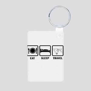 Eat Sleep Travel Keychains