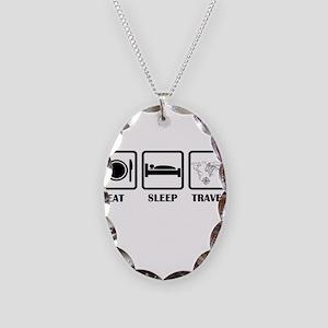 Eat Sleep Travel Necklace