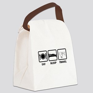 Eat Sleep Travel Canvas Lunch Bag