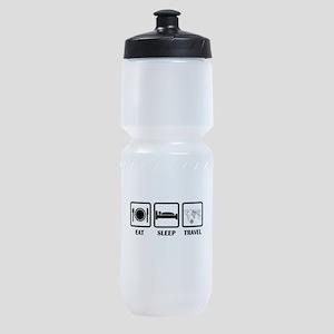 Eat Sleep Travel Sports Bottle