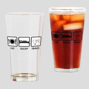 Eat Sleep Travel Drinking Glass