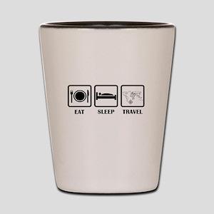Eat Sleep Travel Shot Glass