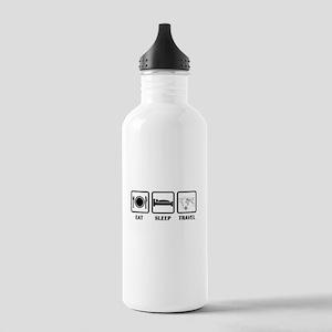Eat Sleep Travel Water Bottle