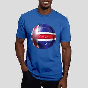 Iceland Soccer Ball Men's Fitted T-Shirt (dark)