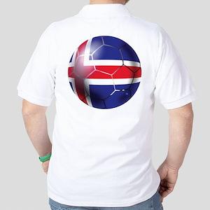 Iceland Soccer Ball Golf Shirt