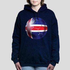 Iceland Soccer Ball Women's Hooded Sweatshirt