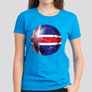 Iceland Soccer Ball Women's Dark T-Shirt