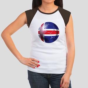 Iceland Soccer Ball Junior's Cap Sleeve T-Shirt