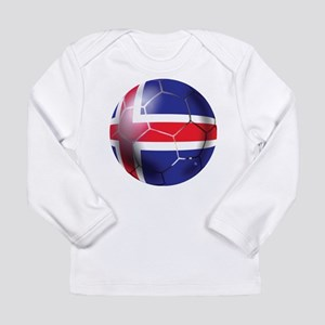 Iceland Soccer Ball Long Sleeve Infant T-Shirt