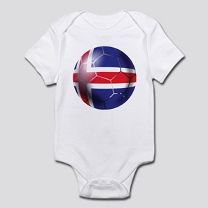 Iceland Soccer Ball Infant Bodysuit