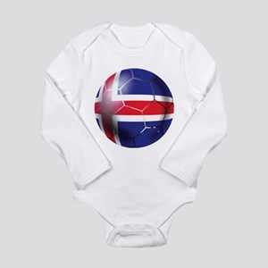 Iceland Soccer Ball Long Sleeve Infant Bodysuit