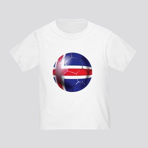 Iceland Soccer Ball Toddler T-Shirt