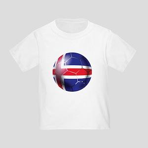 Iceland Soccer Ball Toddler T-Shirt