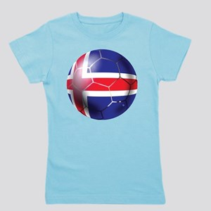 Iceland Soccer Ball Girl's Tee
