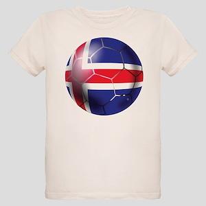 Iceland Soccer Ball Organic Kids T-Shirt
