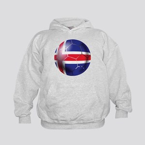 Iceland Soccer Ball Kids Hoodie