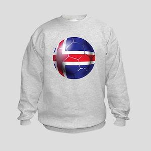 Iceland Soccer Ball Kids Sweatshirt