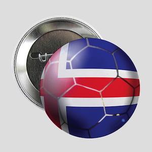 "Iceland Soccer Ball 2.25"" Button"